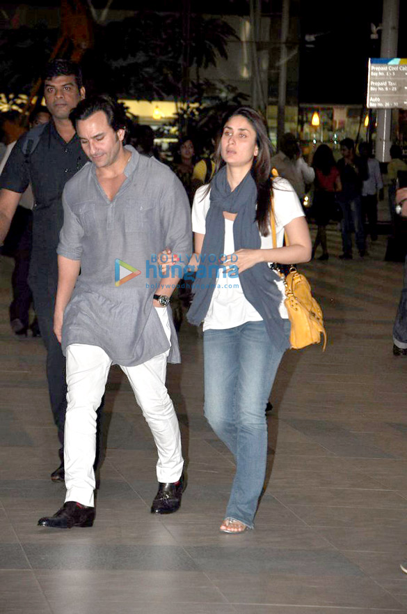 Saif Kareena Return To Mumbai After Their Wedding Reception In