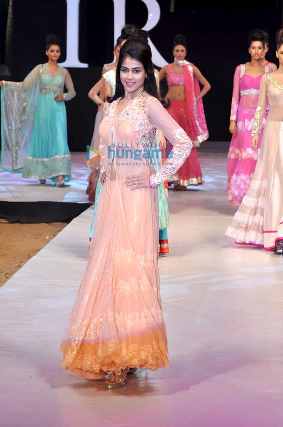 6b47942cf7f3 Genelia Dsouza walks for Neeta Lulla at India Resort Fashion Week 2012