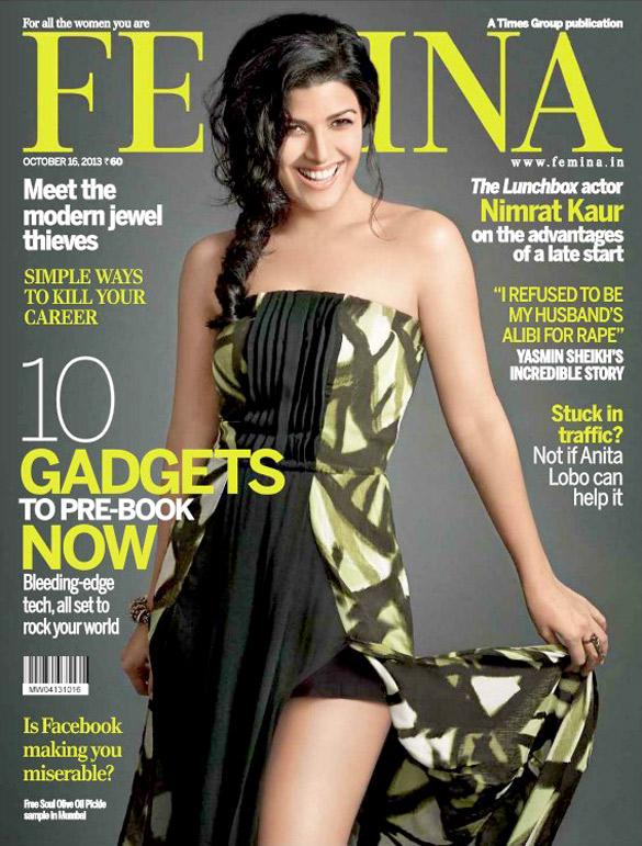 Nimrat Kaur On The Cover Of Femina,Dec 2014