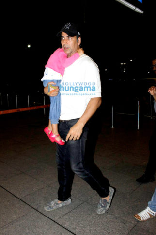 Akshay Kumar snapped at the airport departing for family holidays