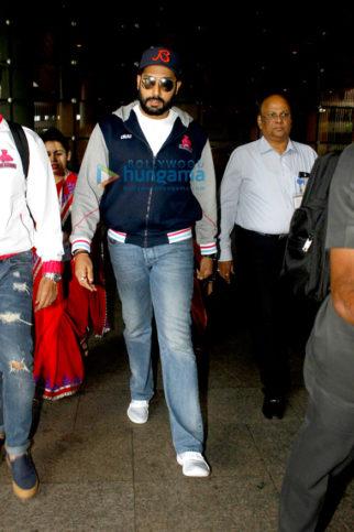 Abhishek Bachchan, Amy Jackson & Neha Dhupia snapped at the airport