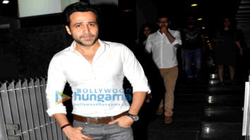 Emraan Hashmi snapped with Director Kunal Deshmukh post dinner at Hakassan