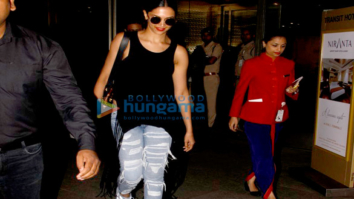 Deepika Padukone snapped as she returns from Bangalore