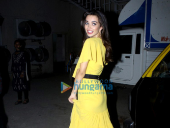 Amy Jackson snapped post an ad shoot in Mumbai