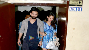Shahid Kapoor & Mira Rajput snapped at PVR juhu