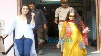 Shraddha kapoor votes with her mother at Juhu