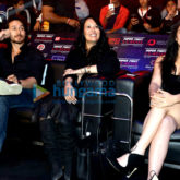 Tiger Shroff along with mother Ayesha and sister Krishna Shroff attend the Super Fight League in Delhi