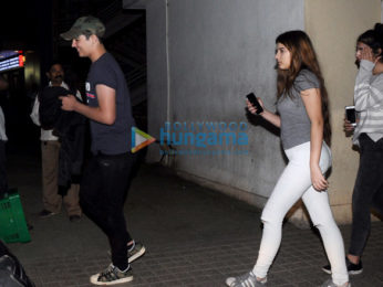 Aarav Kumar snapped with his close friends post a movie screening at PVR Juhu