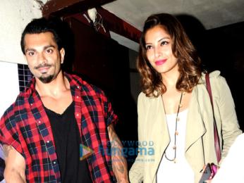 Bipasha Basu & Karan Singh Grover snapped post a movie screening at PVR Juhu