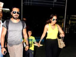 Emraan Hashmi, Farhan Akhtar, Kalki Koechlin and Prachi Desai snapped at the airport