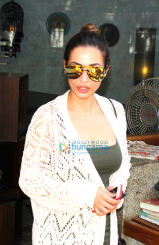 Malaika Arora Khan snapped post lunch at 'Out Of The Blue'