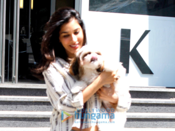 Sophie Choudry snapped at Dessange Salon