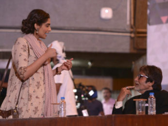 Check out Amitabh Bachchan shoots a short cameo for R. Balki's Padman-2