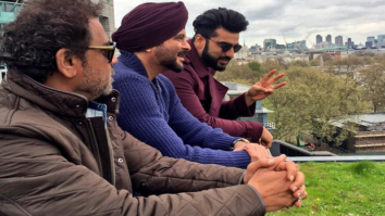 Check out Anil Kapoor, Arjun Kapoor and Anees Bazmee pose on sets of Mubarakan features