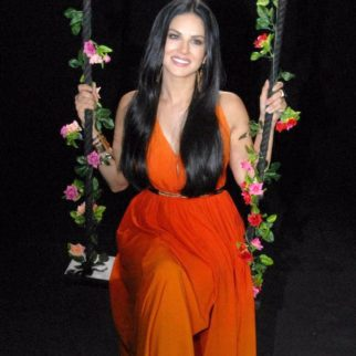 Check out Sunny Leone poses on a swing for a sexy photoshoot
