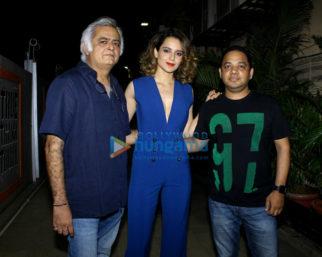 Kangna Ranaut and Hansal Mehta at Simran movie wrap up bash