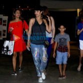 Malaika Arora Khan and Amrita Arora snapped with kids in bandra