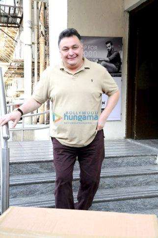 Rishi Kapoor snapped post a movie screening at PVR Juhu