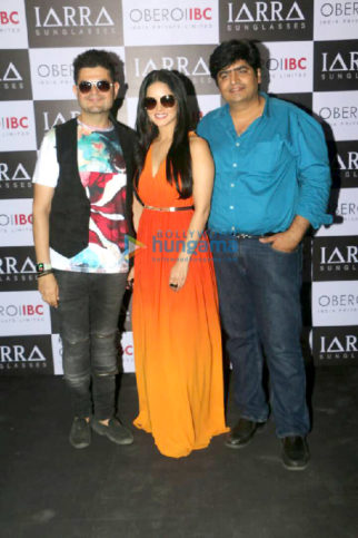 Sunny Leone snapped at a photoshoot for IARRA sunglasses