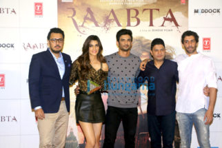Sushant Singh Rajput & Kriti Sanon grace the trailer launch of 'Raabta'
