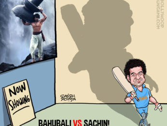 Bollywood Toons Sachin stands tall in spite of Bahubali!