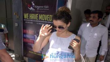 Kangna Ranaut spotted at Pali Hill