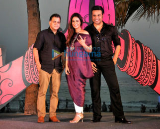 Krushna Abhishek and Mona Singh at the launch of 'India Banega Manch'