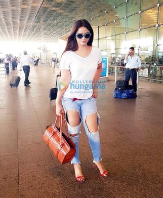 Neetu Chandra spotted at the Mumbai International airport