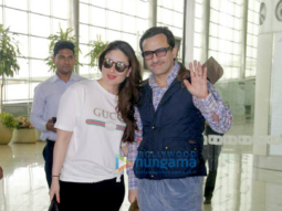Saif Ali Khan and Kareena Kapoor Khan depart for London