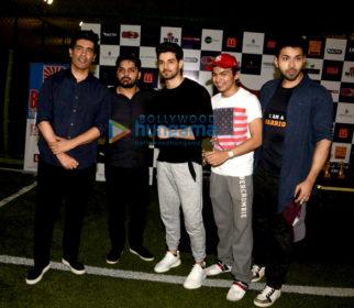 Sooraj Pancholi and Manish Malhotra grace the launch of 'Super Soccer League'