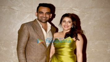 Zaheer Khan and Sagarika Ghatge's engagement bash in Mumbai