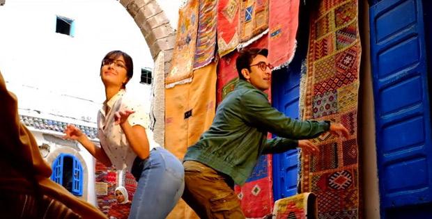 Behind the scenes: Katrina goofs around with Ranbir on Jagga Jasoos sets