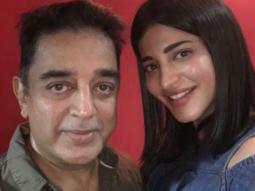 Shruti Haasan clicked with superstar father Kamal Haasan at the special screening of Behen Hogi Teri-1