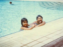 Throwback Toddlers Arjun Kapoor and sister Anshula Kapoor get goofy while swimming