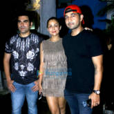 Arbaaz Khan, Amrita Arora & Shakeel Ladak snapped post dinner at Olive