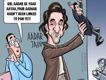 Bollywood Toons Ranbir Kapoor links Aadar to Bollywood!