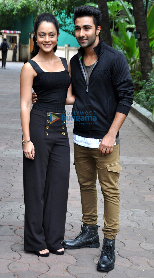 Debutants Aadar Jain and Anya Singh promote 'Qaidi Band'