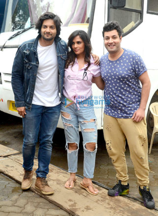 Photo shoot of 'Fukrey 2' with the starcast at Mehboob Studio