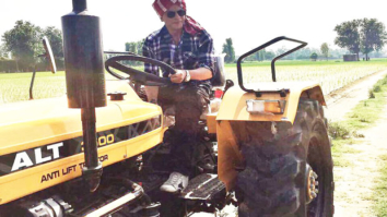 Shah Rukh Khan gives desi feels driving a tractor in Punjab