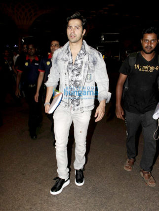 The cast of Salman Khan starrer Judwaa 2 snapped at the airport