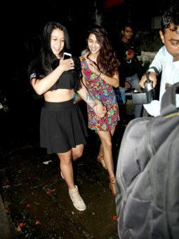 Tiger Shroff, Disha Patani and Nidhhi Agerwal at the launch of Mane Maniac Salon