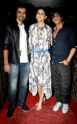 Shah Rukh Khan, Anushka Sharma and Imtiaz Ali snapped at 'Jab Harry Met Sejal' after party