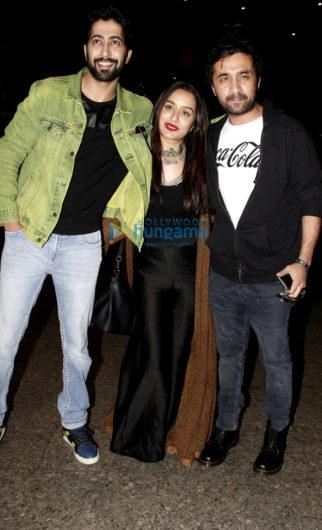 Shraddha Kapoor, Siddhanth Kapoor and Ankur Bhatia snapped at the airport