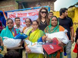Urvashi Rautela visits flood-affected areas in Uttarakhand