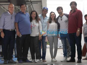 Varun Dhawan and family snapped post David Dhawan's birthday lunch at Hakkasan