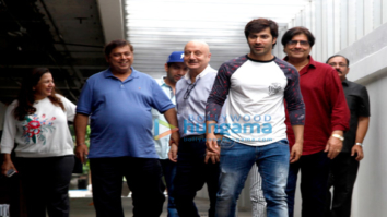 Varun Dhawan and family snapped post David Dhawan's birthday lunch at Hakkasan