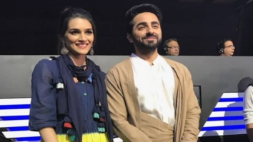 WATCH Ayushmann Khurrana sings National Anthem with Kriti Sanon at Pro Kabaddi league in Ahmedabad