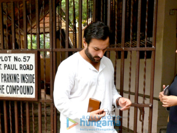 Saif Ali Khan snapped post a meeting in Bandra