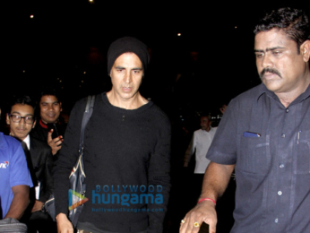 Akshay Kumar & family return from his birthday celebrations abroad
