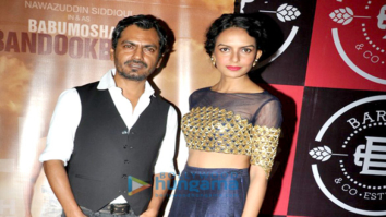 Cast and crew of the film 'Babumoshai Bandookbaaz' grace the film's success bash